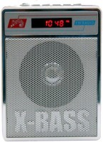 CRETO Super Sound SL-413 Fm/Radio Supports USB Pen-drive, aux memory card FM Radio(Silver White)