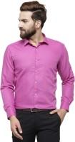 RG DESIGNERS Men Solid Formal Purple Shirt