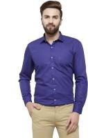 RG DESIGNERS Men Solid Formal Dark Blue, Blue Shirt