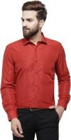 RG DESIGNERS Men Solid Formal Red Shirt