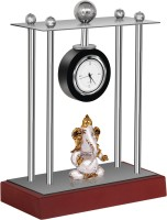 vebeto Analog Silver Clock