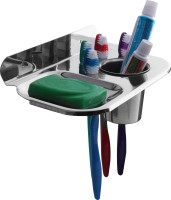 Kopter 6 in 1 Stainless steel Soap Dish Holder/ stand(Silver)