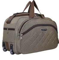 Zeolite (Expandable) 21 inch\ 54 cm Waterproof Lightweight 60 L Luggage Travel Duffel Bag with two wheels brown Duffel With Wheels (Strolley)