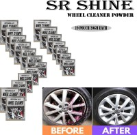 S R SHINE Alloy Wheel Cleaner renews shine and sparkle metals by removing surface rust, stains, oxidation, water spots, Car Care/Car Accessories/Automotive Product pack of 19 pouch (20gm) each 380 g Wheel Tire Cleaner(Pack of 19)