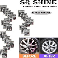 S R SHINE Alloy Wheel Cleaner renews shine and sparkle metals by removing surface rust, stains, oxidation, water spots, Car Care/Car Accessories/Automotive Product pack of 29 pouch (20gm) each 580 g Wheel Tire Cleaner(Pack of 29)