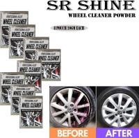 S R SHINE S Alloy Wheel Cleaner renews shine and sparkle metals by removing surface rust, stains, oxidation, water spots, Car Care/Car Accessories/Automotive Product pack of 8 pouch (20gm) each 160 g Wheel Tire Cleaner(Pack of 8)