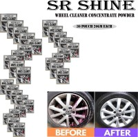 S R SHINE Alloy Wheel Cleaner renews shine and sparkle metals by removing surface rust, stains, oxidation, water spots, Car Care/Car Accessories/Automotive Product pack of 30 pouch (20gm) each 600 g Wheel Tire Cleaner(Pack of 30)