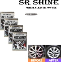 S R SHINE S Alloy Wheel Cleaner renews shine and sparkle metals by removing surface rust, stains, oxidation, water spots, Car Care/Car Accessories/Automotive Product pack of 4 pouch (20gm) each 80 g Wheel Tire Cleaner(Pack of 4)