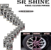 S R SHINE Alloy Wheel Cleaner renews shine and sparkle metals by removing surface rust, stains, oxidation, water spots, Car Care/Car Accessories/Automotive Product pack of 16 pouch (20gm) each 320 g Wheel Tire Cleaner(Pack of 16)
