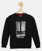 FM KIDS Full Sleeve Graphic Print Boys Sweatshirt