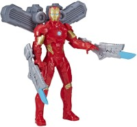 MARVEL Avengers Iron Man Figure 9.5-Inch Action Figure Toy, Arc Booster, 2 Arc Swords, For Kids Ages 4 & Up(Multicolor)