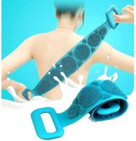 Blue Import and Export Silicone Back Scrubber Belt Soft Body Massage Cleaning Exfoliating Bath Brush