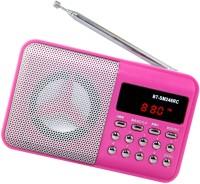 CRETO Digital BT-SM246 Fm radio support USB Pen-drive , memory card, aux in , recording FM Radio(Pink)