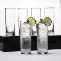Sk shopie (Pack of 6) Highball Water and Juice Glass, Ideal for for Water, Cocktails and Mixed Drinks Glass Set(210 ml, Glass)