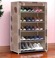 Cmerchants Metal Collapsible Shoe Stand(Beige, 5 Shelves, DIY(Do-It-Yourself))