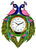 DivineCrafts Analog 32.5 cm X 32.5 cm Wall Clock(Multicolor, With Glass)