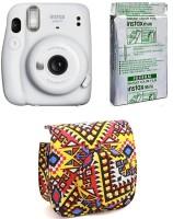 FUJIFILM Instax Mini 11 INSTAX Mini 11 Instant Film Camera with 10X1 Film pack With Bohemia Pouch Instant Camera(White)