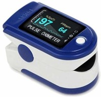 2Light Oximeter Finger Pulse Blood Oxygen SpO2 Monitor Pulse Oxygen Meter Finger Oximeter Heart Rate Monitors (Battery Not Included) Pulse Oximeter(Blue, White)