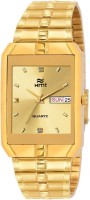HEMT GOLDEN DIAL DAY AND DATE DISPLAY-HM-GSQ005 Analog Watch  - For Men