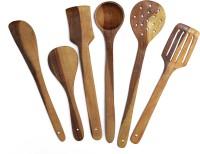 Flipkart SmartBuy Wooden Cooking Spoons for Non-Stick Utensils Set of 6 Wooden Spatula(Pack of 6)
