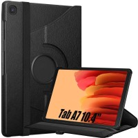 S-Gripline Flip Cover for Samsung GALAXY Tab A7 10.4 inch (2020), [Compatible Model: SM-T500, SM-T505, SM-T507](Black)