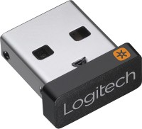 Logitech Unifying Receiver for Mouse and Keyboard Works with The Unifying Logo (Orange Star, Connects up to 6 Devices) USB Adapter(Black)