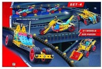 PEZYOX MEC O TEC Vintage Metal Construction Set For Kids, This Set Helps To Enhance Creativity, Logic, Cognitive Skill, Made In India(Multicolor)