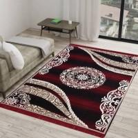 Sasta Sunder Tikau Multicolor Acrylic Carpet(155 cm  X 215 cm)