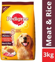 PEDIGREE Adult Meat, Rice 3 kg Dry Adult Dog Food