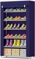 Dewberries 6 Layer Multi Utility Collapsible Shoe Rack With Cover Metal Collapsible Shoe Stand(6 Shelves, DIY(Do-It-Yourself))