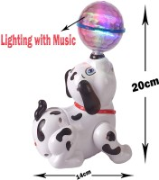 TamBoora Best Buy Dancing Dog with Music Flashing Lights 100% Safe material For Kids Learning & Educational Toy For Kids(White, Black)
