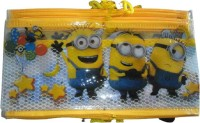 Super Easy Minions Design Kids Pencil Pouch for Birthday Return Gifts , Art Plastic Pencil Boxes(Set of 12, Multicolor)