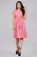 Modli 20 Fashion Women A-line Pink Dress