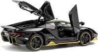 US1984 1:32 Diecast Metal Body Lamborghini Racing Pull Back Car Toy with Openable Doors, Light and Sounds Effects(Black, Pack of: 1)