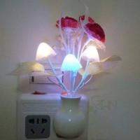 TSV LED Novelty light Mushroom Tulip Flower light sensor night lamp Home decoration Romantic Baby Bedroom foyer Night Lamp Night Lamp(14 cm, Multicolor)