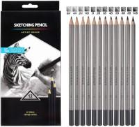 Definite Graphite Worison Professional Drawing Sketching Pencil Set- Artist Grade Degree Pencils 10B, 8B, 6B, 5B, 4B, 3B, 2B, B, HB, 2H, 4H, 6H Graphite Pencils for Beginners & Professional Artists Pencil(Pack of 12)