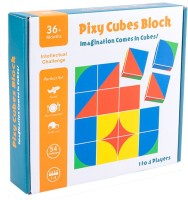 Biblubox Wooden Pixy Cubes(16 Pieces)
