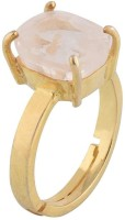 Classics jewelry 9.25 Carat Original Lab Certified Sapphire Natural White (Safed) Gemstone Adjustable Ring Copper Sapphire Gold Plated Ring