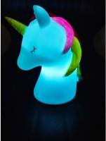 KOMTO Mini Unicorn Indoor Table Lamp Portable Nursery LED Night Light Night Lamp(13 cm, Multicolor)