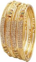 Bhagya Lakshmi Alloy Gold-plated Bangle Set(Pack of 4)