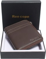 ree cope Men Casual, Trendy Brown Genuine Leather Wallet(7 Card Slots)