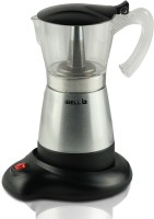 iBELL Electric Moka Pot, Espresso Maker / Percolator/ filter Coffee Maker, Italian Espresso 6 Cups Coffee Maker(Silver)