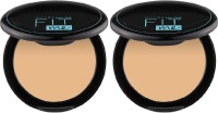 MAYBELLINE NEW YORK Fit Me Compact Powder - 128, 8 g (Pack of 2) Compact(Shade 128, 16 g)
