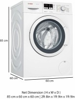 BOSCH 7 kg Fully Automatic Front Load with In-built Heater Silver(WAK20163IN)