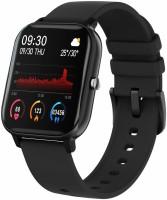 IBS SPO2 Heart Rate BP Fitness BLUETOOTH Smartwatch(Black Strap, FREE SIZE)