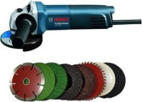 Tulsway GWS 600 grinder with 8 high quality 4-inch wheels for cutting grinding buffing application Angle Grinder(100 mm Wheel Diameter)