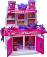 ToyDor Doll kitchen set for kids Girls Toys For Kids Non Toxic BPA Free Material used Kitchen play set( MEDIUM SIZE) Height 30 cm Width 21 cm