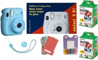 FUJIFILM Instax Mini 11 Bundle Pack (Sky Blue) with 40 Film shot Instant Camera(Blue)