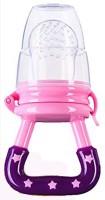 AE Silicone Baby fruit Feeder/BPA Free/Food Feeder/Silicone Food Nibbler/ Teether and Feeder(Pink)