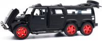 US1984 1:32 Diecast Metal Pullback Hummer Toy car Openable Doors Light & Music Car for Kids Best Gifts Toys for Kids Boys(Black, Pack of: 1)